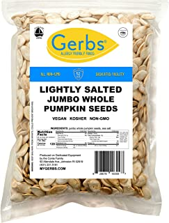 Jumbo Lightly Sea Salted Pumpkin Seeds, 4 LBS by Gerbs – Top 14 Food Allergy Free & Non GMO - Vegan, Keto Safe & Kosher - Extra Large In-Shell Pepitas grown in USA