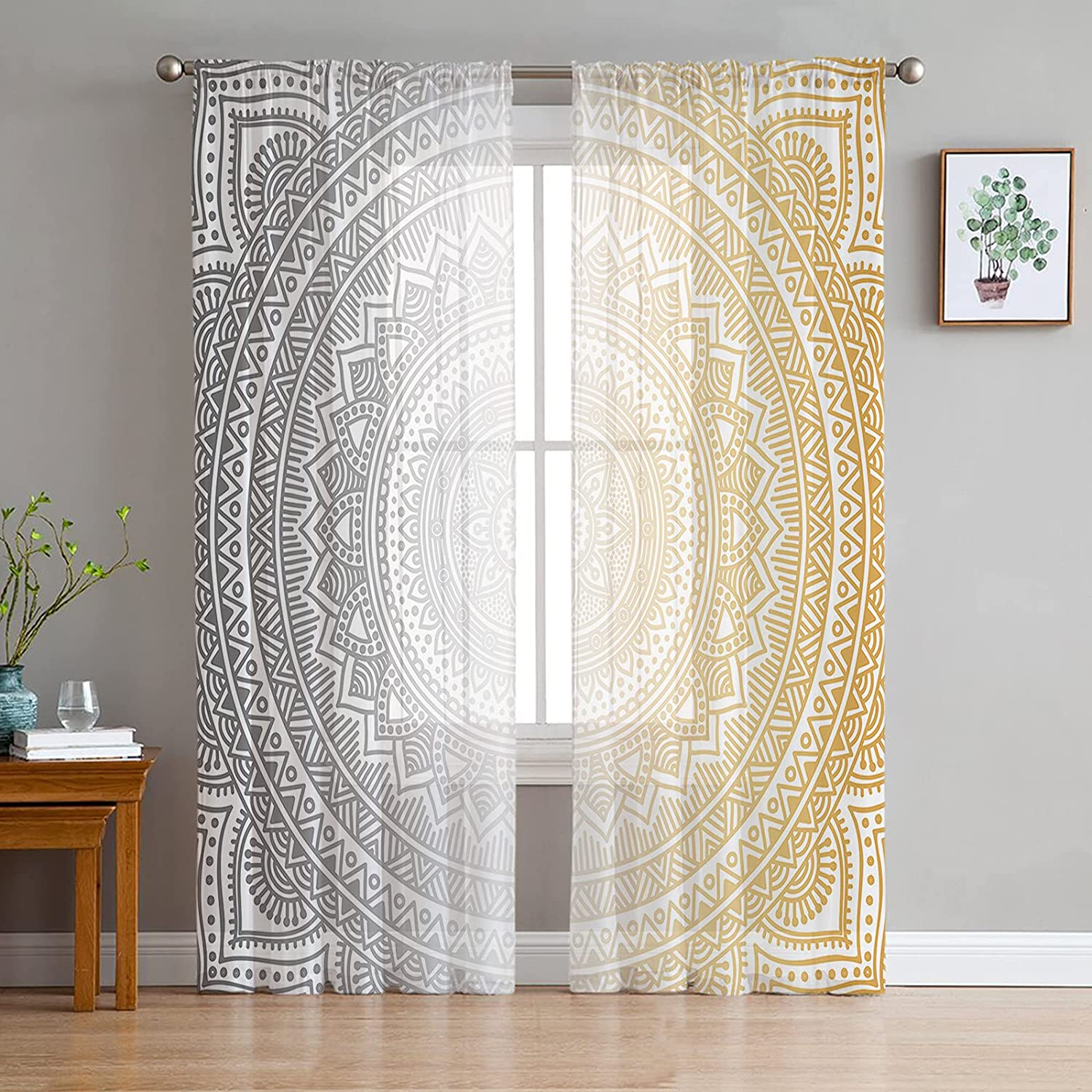 Sheer Some reservation Voile Chiffon Window Curtains Wrinkle Fre Touch Spring new work with Soft