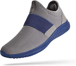 Slip on Sneakers for Men Laceless Mesh Breathable Gym Shoes Lightweight Knit on Running Walking Tennis Shoes