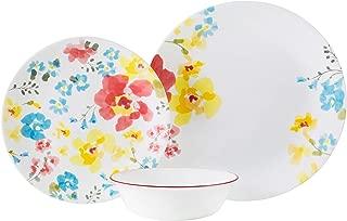 Corelle Cheerful Garden Chip & Break Resistant 12pc Dinner Set, Service for 4, Multicoloured, 27.94 x 12.38 x 26.67 cm