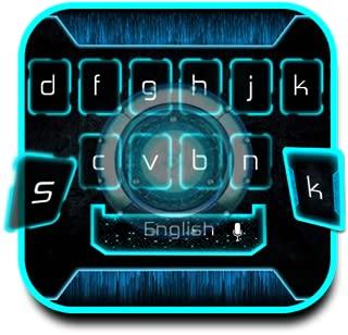 technology neon blue app