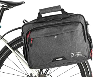 Two Wheel Gear - Pannier Briefcase Convertible - 2 in 1 - Bike Commuting Office & Laptop Bag (Graphite)