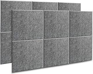 AGPtEK Panel Acústico, 12 Paneles de Absorción Acústica 30 * 30 * 1 cm Paneles de Aislamiento Acústico de bordes biselado...