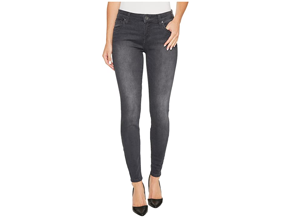 KUT from the Kloth Mia Toothpick Skinny in Model w/ Dark Stone Base Wash (Model/Dark Stone Base Wash) Women's Jeans, Blue