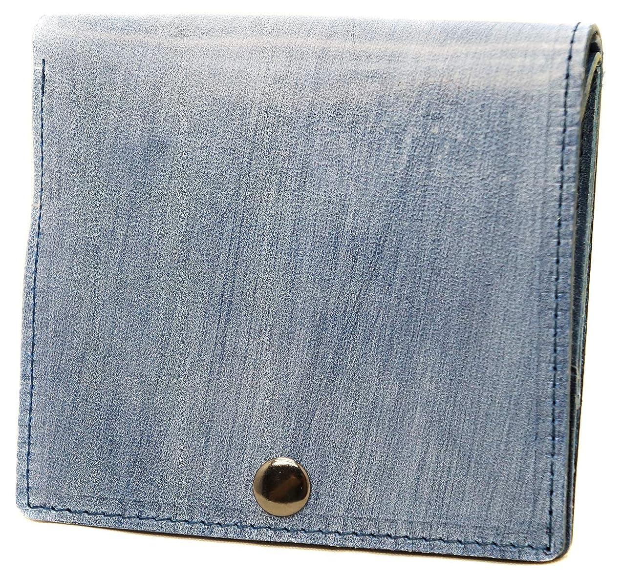 モザイク検体原稿[BlissLeather] [一流のイタリア製ブライドルレザー] 薄型 コンパクト 本革 二つ折り財布 10277