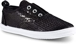 Chillipop Slip-On Laceless Fashion Sneakers for Girls,...