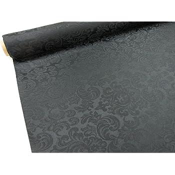 color Negro tela Raso Brocado Ref Metraje 0,50 mts con ancho 2,80 mts. Damasco