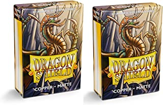 Dragon Shield Bundle: 2 Packs of 60 Count Japanese Size Mini Matte Card Sleeves - Matte Copper