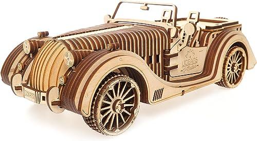 UGEARS VM-01 Roadster – modèle en Bois 3D à Construire – pour Adultes et Enfants– Miniature Voiture Fonctionnante – e...