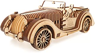 UGears Mechanical Models 3-D Wooden Puzzle - Mechanical Roadster VM-01