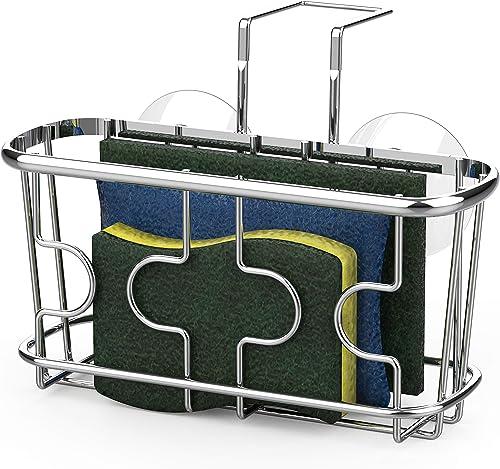 2021 SimpleHouseware Kitchen wholesale online Sink Caddy Organizer for Brush Sponge Holder, Chrome online