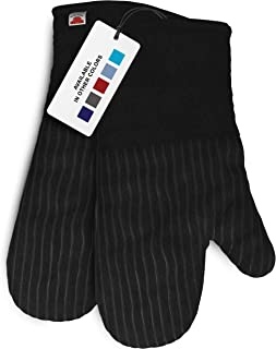 Big Red House Oven Mitts, with The Heat Resistance of Silicone and Flexibility of Cotton, Recycled Cotton Infill, Terryclo...