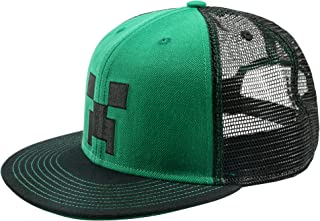 JINX Minecraft Creeper Face Premium Youth Snap Back Hat