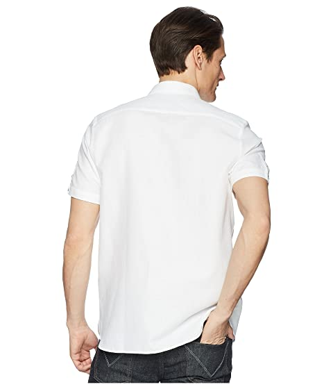 Baker corta tejida Camisa Ted Peeze blanca de manga 6xqFXP7