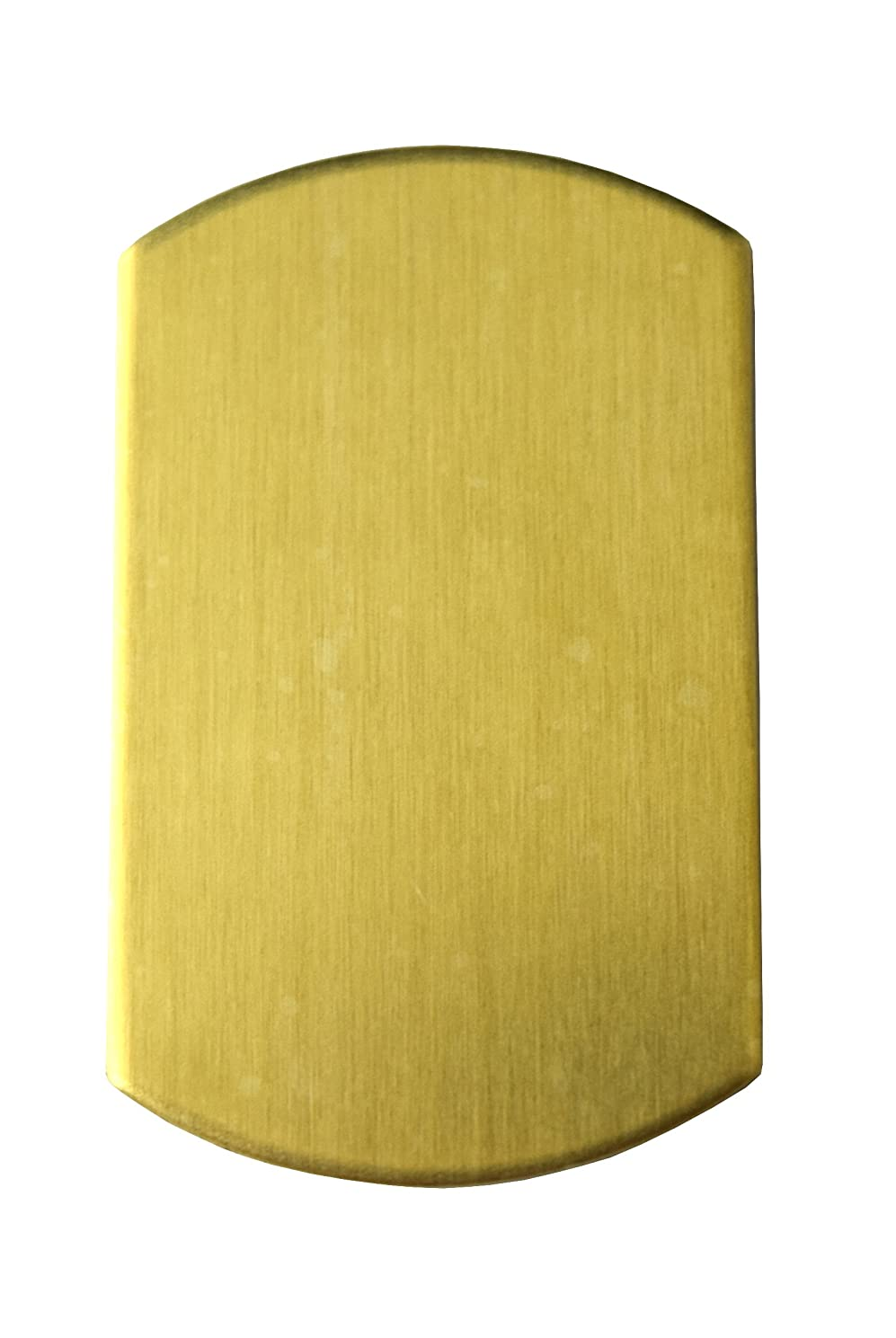 RMP Stamping Blanks, 3/4 Inch x 1-1/4 Inch Dog Tag, Brass 0.032 Inch (20 Ga.) PVC Coating on Both Sides - 20 Pack