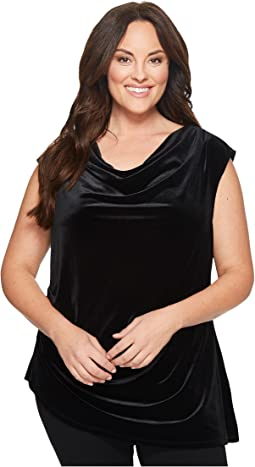 Calvin Klein Plus - Plus Size Velvet Top w/ Angle Bottom
