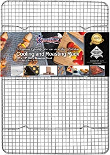 Kitchenatics Commercial Grade 100% Stainless Steel Roasting and Cooling Rack, Thick-Wire..