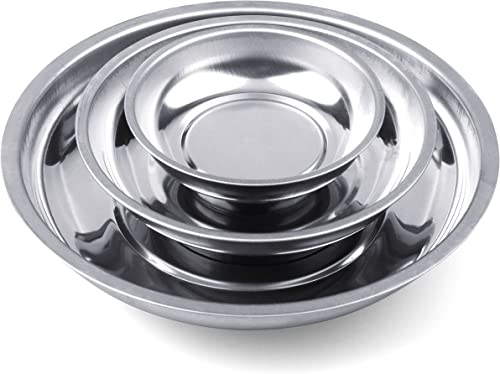 """wholesale HORUSDY 3-Piece Magnet Trays Set, 3"""" 4"""" discount 6"""", Round Magnetic Trays Tools Parts outlet online sale Tray Holder outlet sale"""