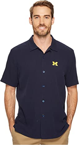 Tommy Bahama Michigan Wolverines Collegiate Series Catalina Twill Shirt