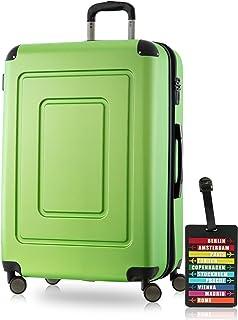 Happy Trolley Valise Lugano 75/20, 75cm, 123 L, Pomme verte, + étiquette de bagage