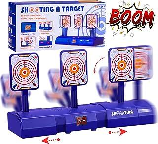 Gafild Objetivo Digital Electrónico para Pistolas Nerf con Restablecimiento Automático, Efectos Inteligentes de Sonido y Luz para Nerf N-Strike Elite/Mega/Rival Series