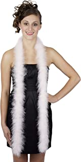 ZUCKER Marabou Boa Medium Weight Solid Color - Light Pink