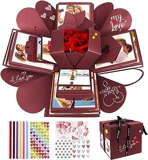 WisFox Boite Surprise, Cadeau Surprise Mémoire d'amour Faite Main de Bricolage Créatif de Cadeau d'Explosion, Scrapbooking...