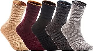 Lovely Annie 女式 5 双装羊毛混纺船袜休闲靴 尺码 7-9