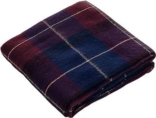 "Lavish Home Blue/Red Throw Blanket-Cashmere-Like-Plaid, 50"" x 60"""