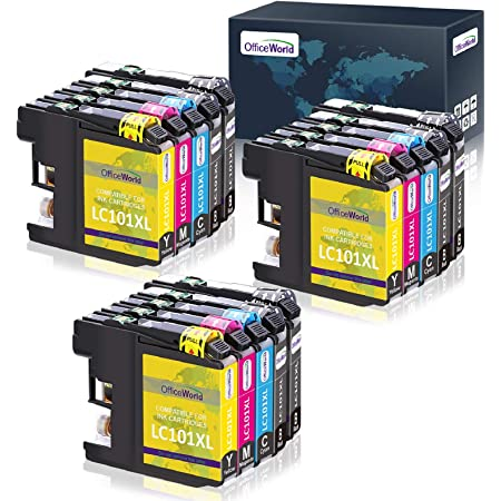 OfficeWorld LC101 LC101XL LC103 LC103XL Ink Cartridges Replacement, Compatible with MFC-J470DW MFC-J475DW MFC-J870DW MFC-J875DW MFC-J6920W(15 Pack)