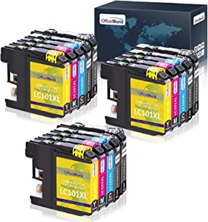 OfficeWorld Compatible Ink Cartridges Replacement for Brother LC101 LC101XL LC103 LC103XL, work with Brother MFC-J470DW MF...
