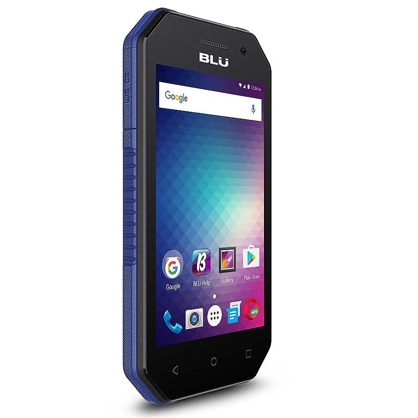 BLU Tank Xtreme 4.0 -Water and Shock Resistant Smartphone -US GSM Unlocked-Black/Blue
