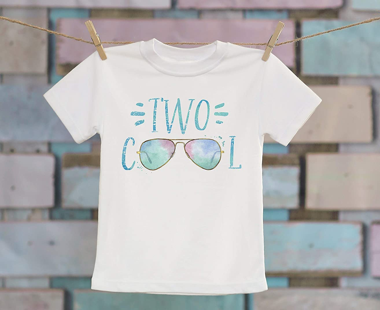Two Cool Sunglasses in Aqua T-Shirt, Birthday Shirt, Customized Shirt, Retro Style T-Shirt, Cute T-Shirt, Boho Kids