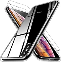 RANVOO iPhone Xs Case, iPhone X Case with 2 Screen Protectors, Crystal Clear [Anti Yellowing] Protective Case [Military Gr...