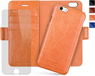 OCASE iPhone 6 Case iPhone 6S Case [Magnetic Detachable Case] Wallet Leather Case [Screen Protector Included] [Upgraded Version] for Apple iPhone 6 / 6S Devices - Blazing Orange