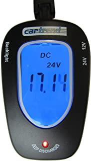 Cartrend 80127 tester baterii 12 V/24 V, z wyświetlaczem LCD podświetlany na niebiesko