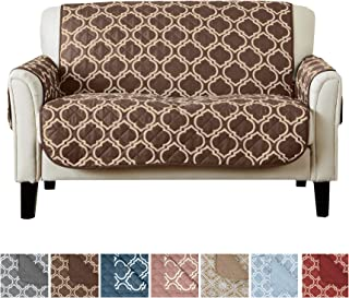 Reversible Love Seat Cover for Living Room. Oversized, Loveseat Furniture Protector with Secure Straps. Furniture Cover for Dogs, Protect from Kids and Pets. (54