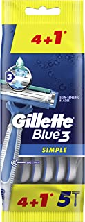 Gillette Blue Simple3 Disposable Razors x4+1