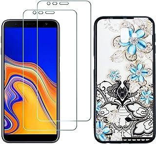 comprar comparacion YKTO Cristal Templado + Funda para Samsung Galaxy J6 Plus 2018 6.0 Pulgadas Fina 3D Moda Dibujos Antigolpes Caso [2 Piezas...