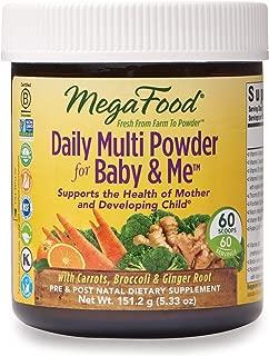 MegaFood, Daily Multi Powder for Baby & Me, Prenatal and Postnatal Multivitamin Supplement, Gluten Free, Vegetarian, 5.33 oz (60 Servings)