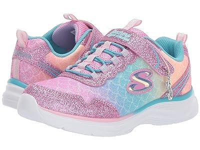 SKECHERS KIDS Glimmer Kicks 81444L (Little Kid/Big Kid) (Light Pink/Multi) Girls Shoes