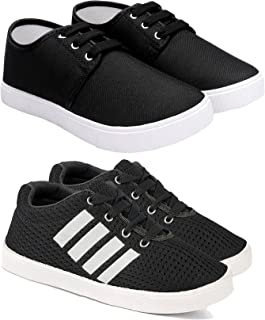 Camfoot Kids & Boys (1155-1654) Multicolor Casual Stylish Sports Shoes (Set of 2 Pair)