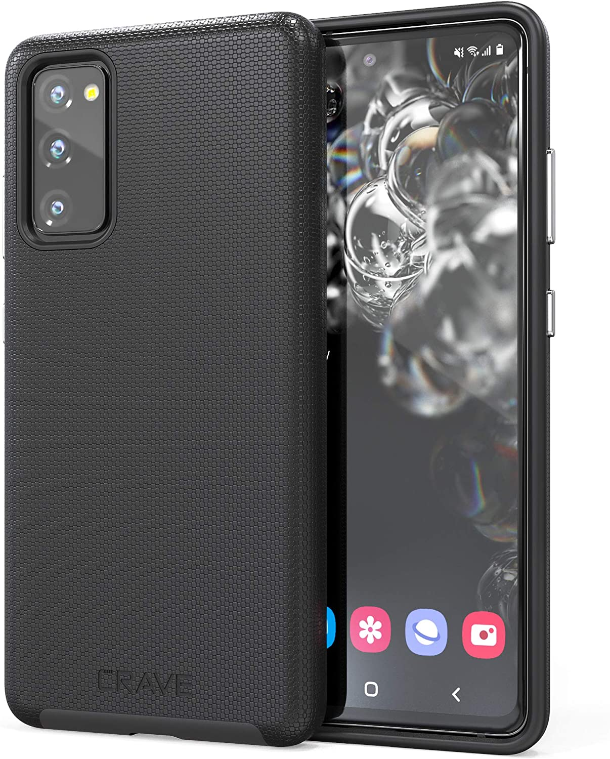 Crave Dual Guard for Samsung Galaxy S20 FE Case, Shockproof Protection Dual Layer Case for Samsung Galaxy S20 FE, S20 FE 5G - Black