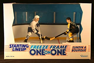 RAY BOURQUE / BOSTON BRUINS & MATS SUNDIN / TORONTO MAPLE LEAFS 1997 NHL * Freeze Frame One-On-One * Starting Lineup Action Figure Deluxe Box Set