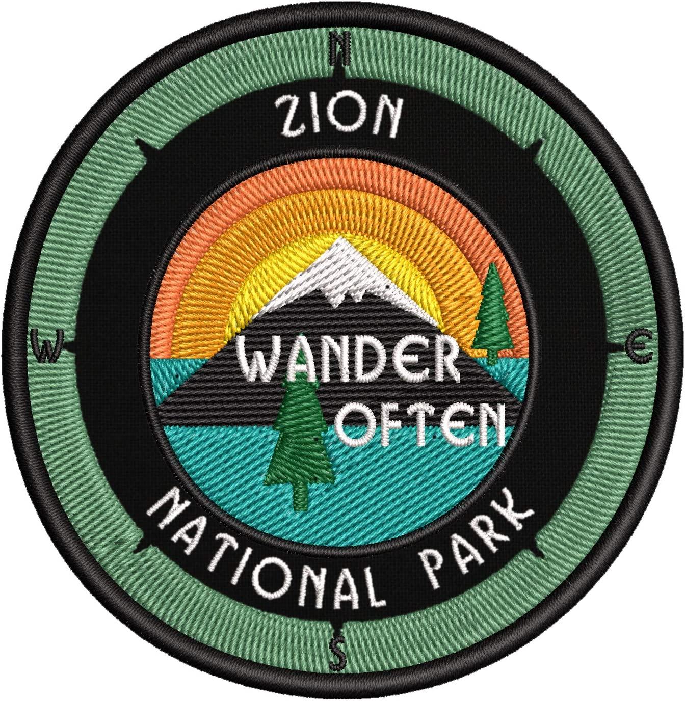 Sale Zion National Park - Wander Boston Mall Often Embroidered Patch I 3.5