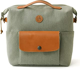 Practico Arte. hge Brompton Front Mini Bag(with Frame) Olive, Hge Minibag, Handmade in Seoul, Korea
