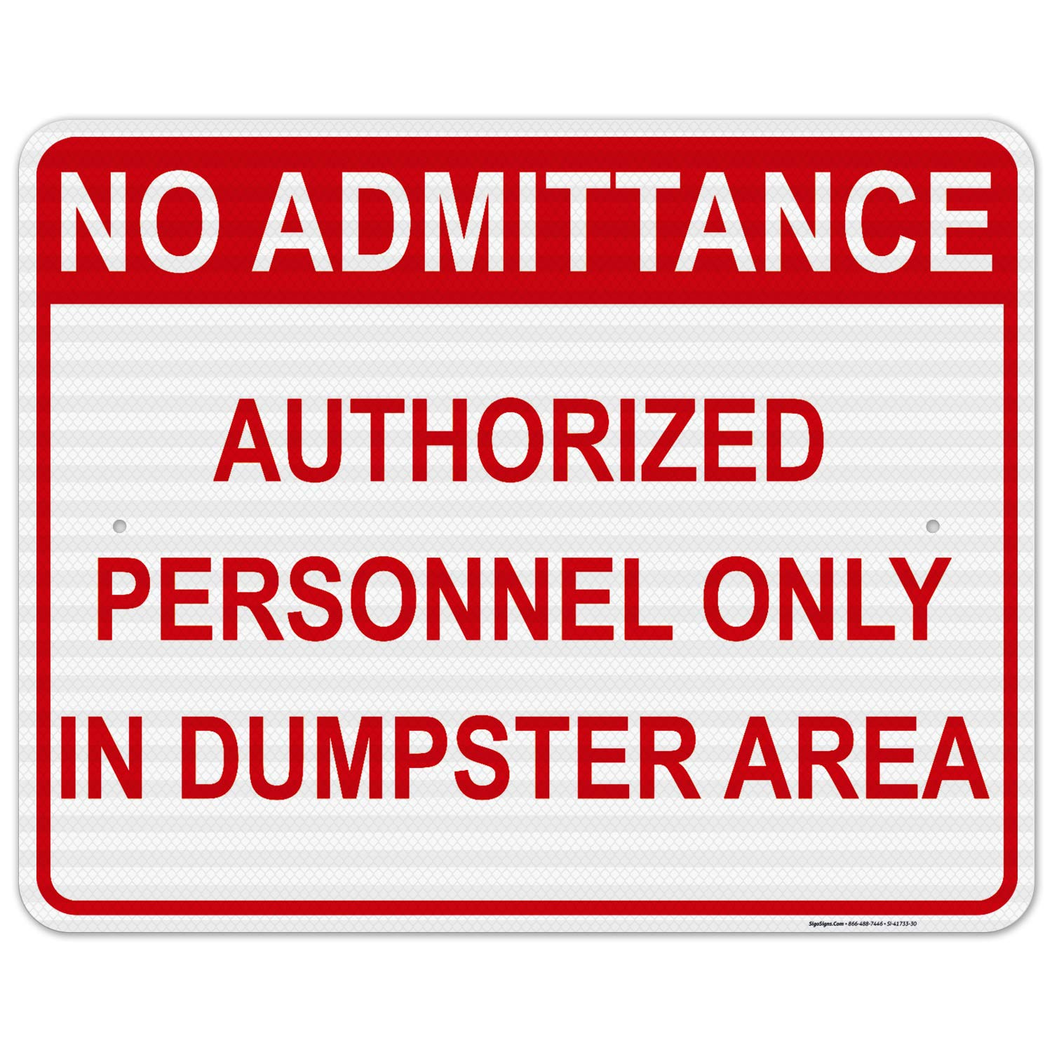 No Admittance Authorized Personnel Only in 2 Challenge the lowest price of Japan ☆ Ranking TOP15 Dumpster Sign Area