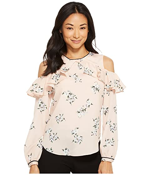 fríos LAUREN top y rosa con Floral Petite hombros Ralph Lauren Multi 80qr8Y