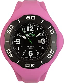 ADNA XXL 57BP Belgian Designed Interchangeable Black color dial and Purple Silicone Band Watch