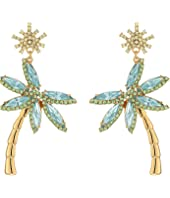 Kate Spade New York - California Dreaming Palm Tree Statement Earrings